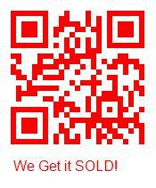 QR Code in red for Mari Montgomery Realty in Huntsville TX