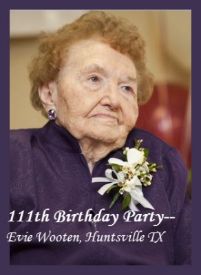 mari montgomery realty, evie wooten, 111 years young