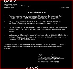 Texas Title Insurance Rate Increase Effective May 1 2013